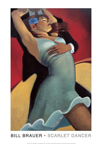 Scarlet Dancer by Bill Brauer - 14 X 20