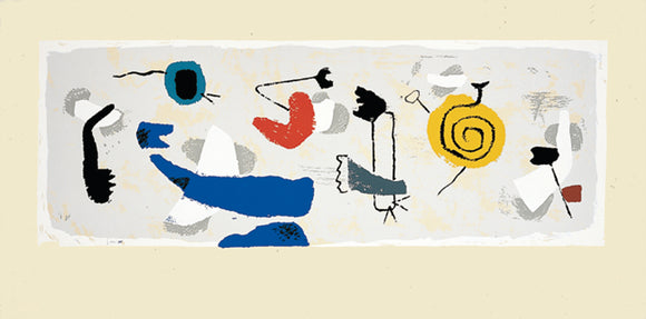 Frieze with Yellow Spiral, 1952 by Willi Baumeister 20 X 40