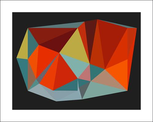 Triangulations n°6, 2013 by Henri Boissiere - 16 X 20
