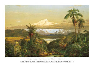 "Cayambe by Frederic Edwin Church - 27 X 39"" - Fine Art Poster."