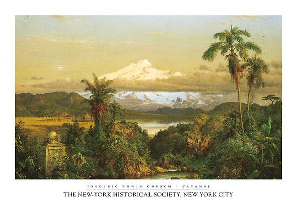 Cayambe by Frederic Edwin Church - 27 X 39