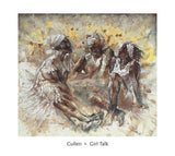 Girl Talk by Johanne Cullen - 26 X 28 Inches - Fine Art Poster.