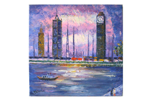 Cityscape - (Oil Painting on Canvas Gallery Wrap Ready to Hang)