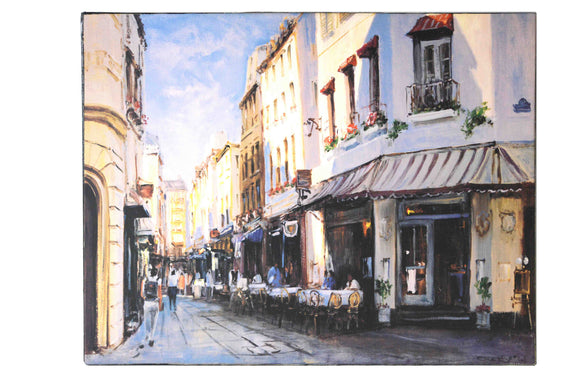 European Street View - (Canvas Ready to Hang)