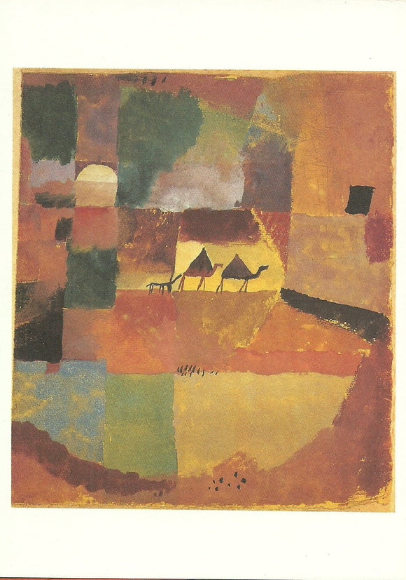 With Two Camels and One Donkey, 1919 by Paul Klee - 5 X 7 Inches (Greeting Card)