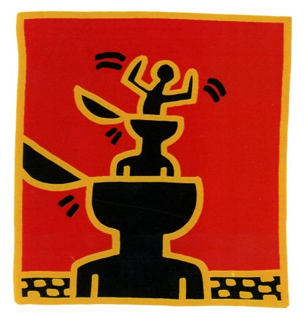 Untitled, 1982 by Keith Haring - 7 X 7 Inches (Greeting Card)