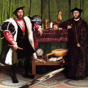 The Ambassadors, 1533 by Hans Holbein the Younger - 6 X 6 Inches (Greeting Card)