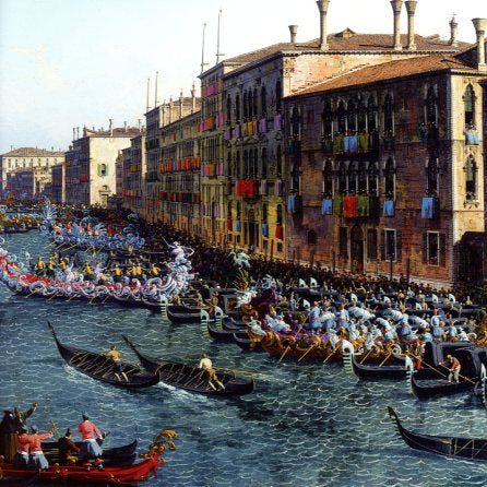 Aregatta on the Grand Canal, 1740 (detail) by Canaletto - 7 X 7 Inches (Greeting Card)