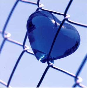 Blue Heart by Masaaki Toyoura - 6 X 6 Inches (Greeting Card)