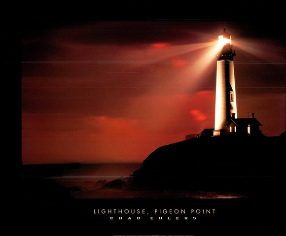 Lighthouse, Pigeon Point by Chad Ehlers - 25 X 32