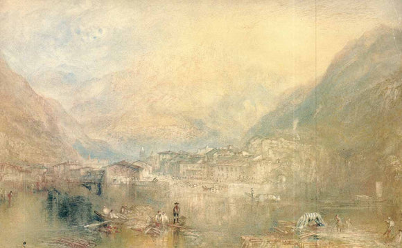 Brunnen, from the Lake of Lucerne, 1845 by Joseph Turner - 11 X 18