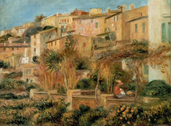 Terraces in Cagnes, 1905 by Pierre Auguste Renoir - 24 X 32 Inches - Fine Art Poster.