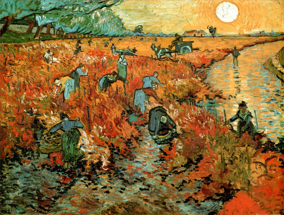 Le Vignoble Rouge à Arles by Vincent Van Gogh - 24 X 32 Inches - Fine Art Poster.