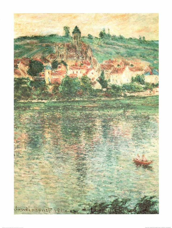 Vetheuil, 1901 by Claude Monet - 24 X 32 Inches - Fine Art Poster.