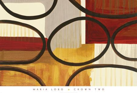 Crown Two by Maria Lobo - 26 X 38 Inches - Fine Art Poster.