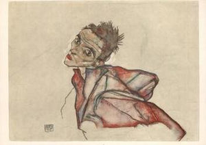 "Self-Portrait, 1915 by Egon Schiele - 14 X 20"" - Fine Art Poster."