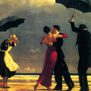 The Singing Butler by Jack Vettriano - 6 X 6 Inches (Greeting Card)