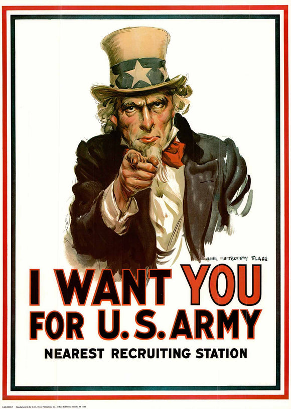 I Want You for the U.S. Army by Flagg - 22 X 30