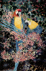 Macaw Couple by Fred Hunt - 24 X 36 Inches - Fine Art Poster.