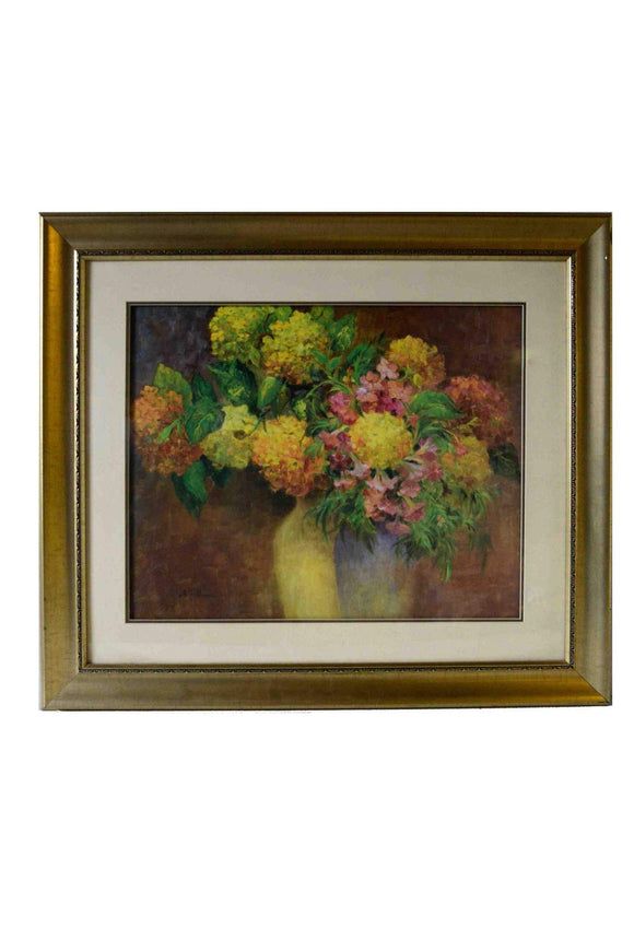 Flowers & Dreams by J. Ripoll - (Art Print with Frame, Matte & Glass Ready to Hang) - 23 X 27