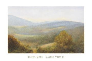 "Valley View II by Elissa Gore - 24 X 36"" - Fine Art Poster."