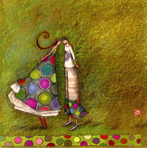 Of all Colors by Gaelle Boissonnard - 6 X 6 Inches (Greeting Card)