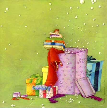 Gift Boxes by Marie-Anne Foucart - 6 X 6 Inches (Greeting Card)