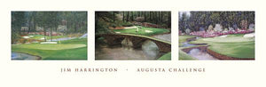 "Augusta Challenge by Jim Harrington - 12 X 36"" - Fine Art Poster."