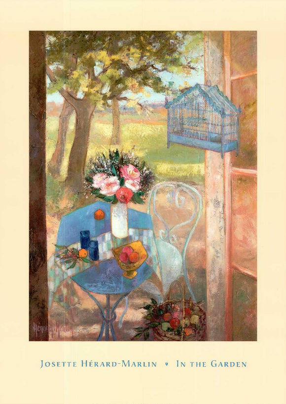 In the Garden by Josette Hérard-Marlin - 26 X 36