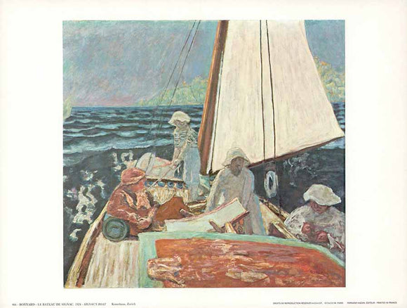 Signac's Boat, 1924 by Pierre Bonnard - 10 X 12
