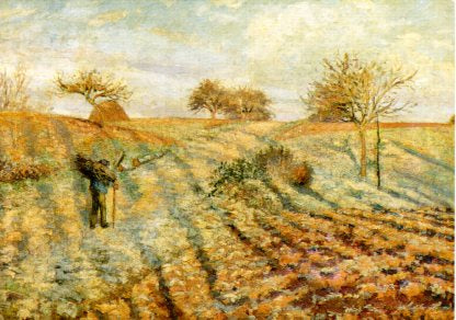 White Frost, 1873 by Pissarro - 4 X 6 Inches (Postcard)