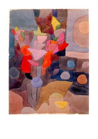 Nature morte aux Glaieuls, 1932 by Paul Klee - 5 X 7 Inches (Greeting Card)