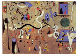 Carnival of Harlequin, 1924-1925 by Joan Miro - 5 X 7 Inches (Greeting Card)