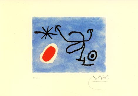 Joan and Pilar Miro, 1966 by Joan Miro - 5 X 7 Inches (Greeting Card)