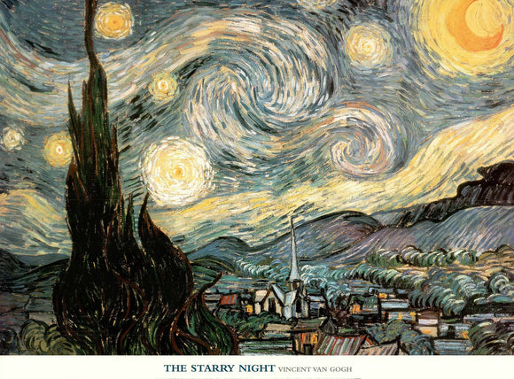 The Starry Night, 1889 by Van Gogh - 24 X 32