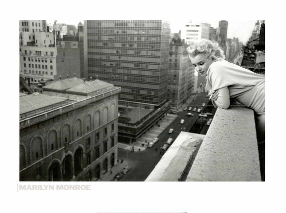 Marilyn Monroe in Manhattan - 24 X 32 Inches - Fine Art Poster.