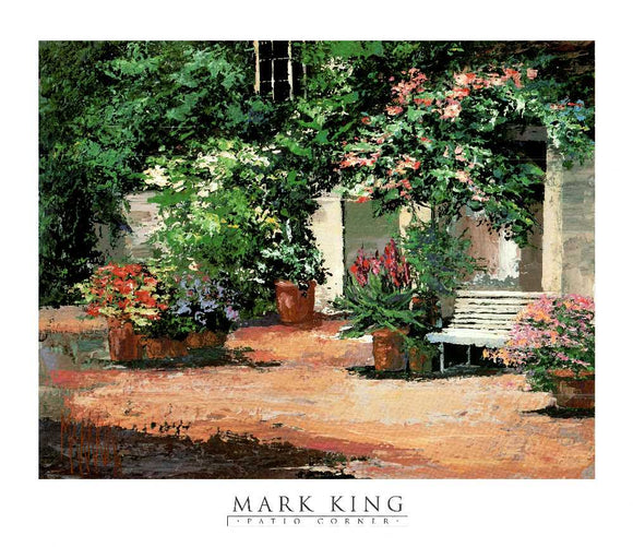 Patio Corner by Mark King - 28 X 32