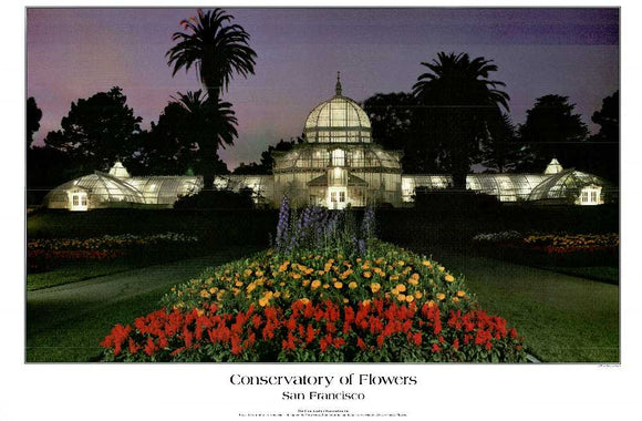 Conservatory of Flowers, San Francisco by Douglas Keister - 24 X 36