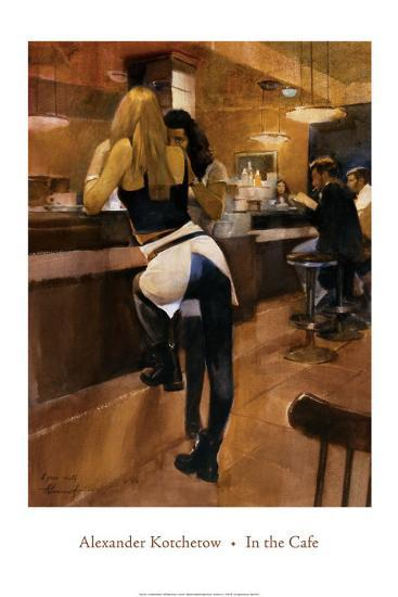 In the Cafe by Alexander Kotchetow - 24 X 36