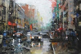 "Montreal Rain by Mark Lague - 24 X 36"" - Fine Art Poster."