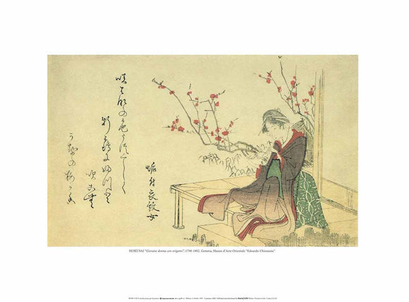 Young Woman with Origami, 1798-1802 by Hokusai - 12 X 16