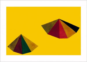 "Untitled, 1986 (Pyramid Yellow) by Sol Lewitt - 28 X 40""(Silkscreen/Sérigraphie)"
