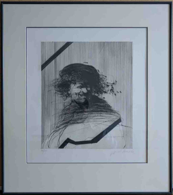 L'homme Qui Rit (Framed Lithograph with Double Matte Numbered & Signed) 30/50