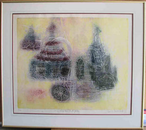 Le Chapiteau et la Guitare (Framed Lithograph Numbered & Signed) 09/30