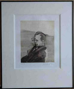 Portrait De Puccini (Framed Lithograph with Double Matte Numbered & Signed) 126/150