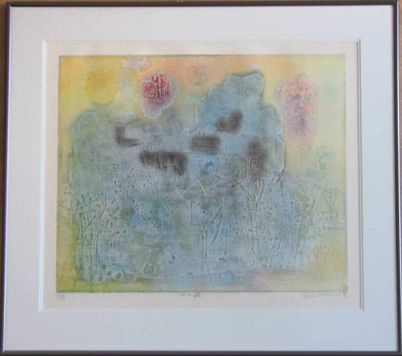 Ciel En Fête (Framed Lithograph Numbered & Signed) 77/99