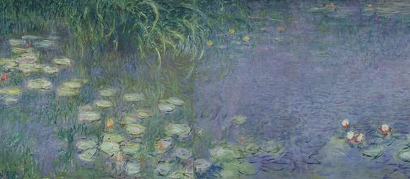 Waterlilies Morning by Claude Monet - 20 X 60