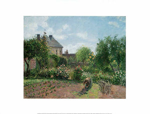 The Artist's Garden at Eragny, 1898 by Pissarro - 12 X 16 Inches - Fine Art Poster.