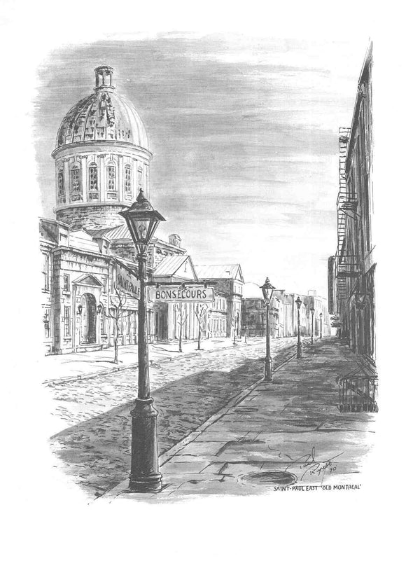 Saint-Paul East - Old Montreal by Paul Rupert - 9 X 12