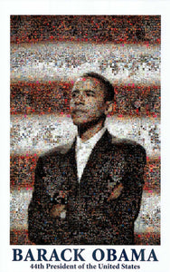 Obama Mosaic by Dana McCullough - 23 X 36 Inches - Fine Art Poster.